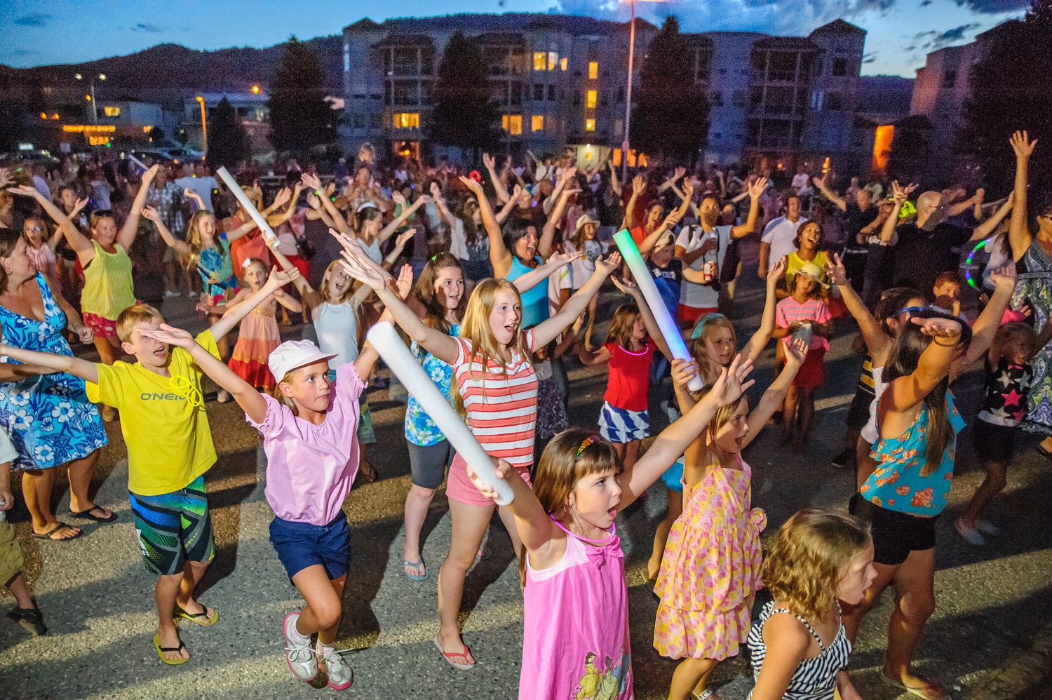 Another song that made a return for the second Osoyoos street dance was the Village People's Y.M.C.A. Dozens of kids and adults raised their hands in unison.
