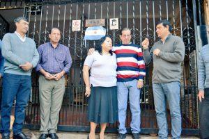 Losada homenajeó a un ex combatiente de Malvinas en Villa Sarita