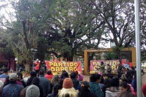 El Partido Obrero realizó un acto en Eldorado donde criticaron el ajuste