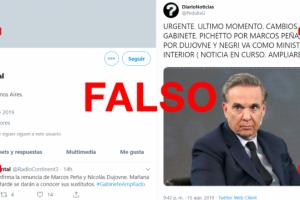 Son falsas la mayoría de las cuentas que publicaron que Peña y Dujovne renunciaron