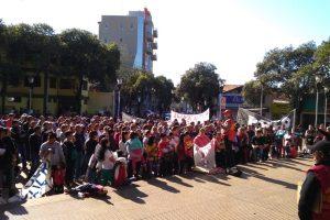 El Polo Obrero se movilizó en Eldorado por la jornada nacional de lucha
