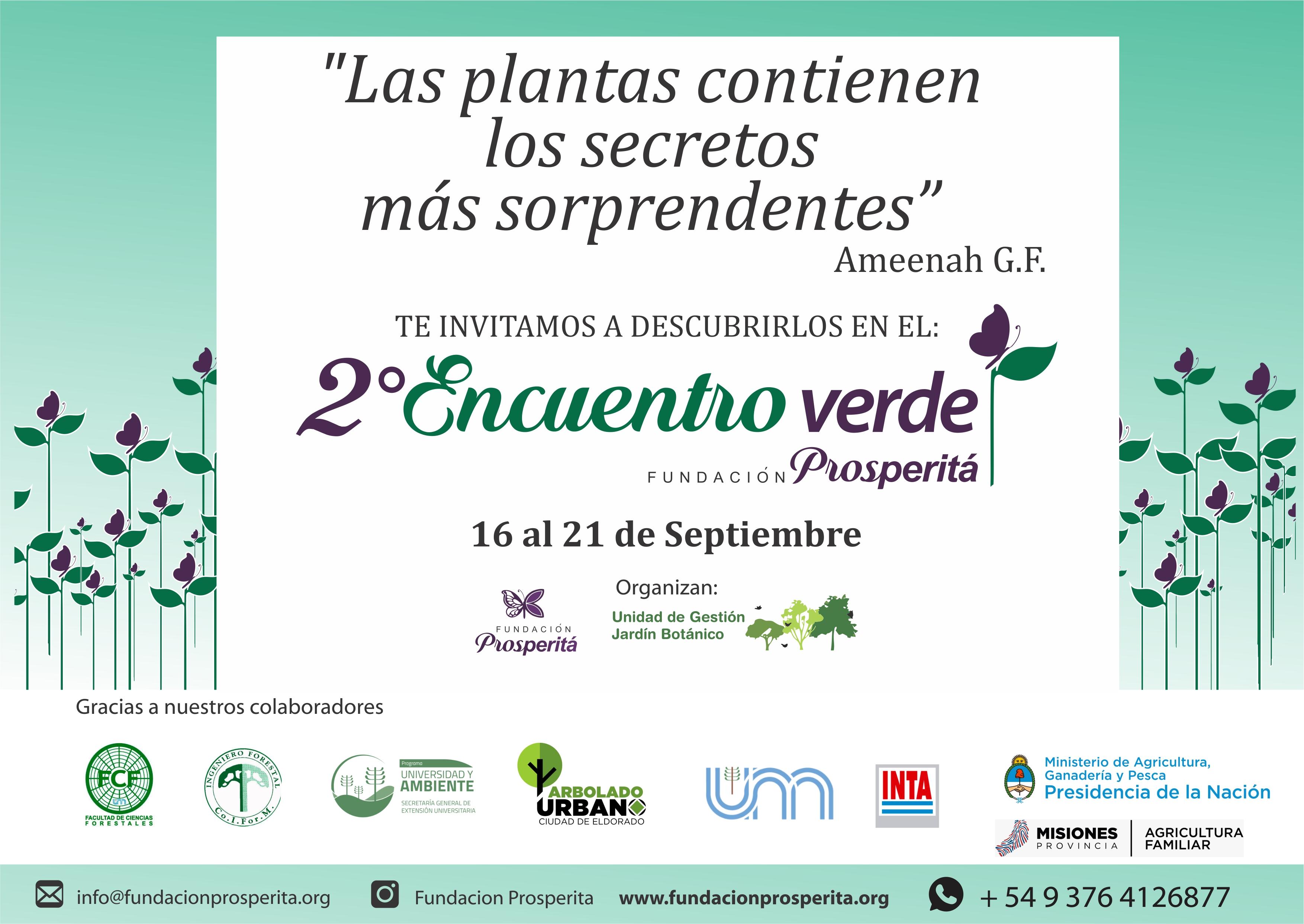 Conversatorios, exposiciones y emprendedores estarán presentes en el II Encuentro Verde