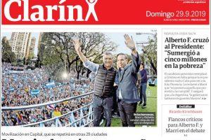 Las tapas del domingo 29: Macri relanzó su campaña, empató Boca y River le ganó al Gimnasia de Diego
