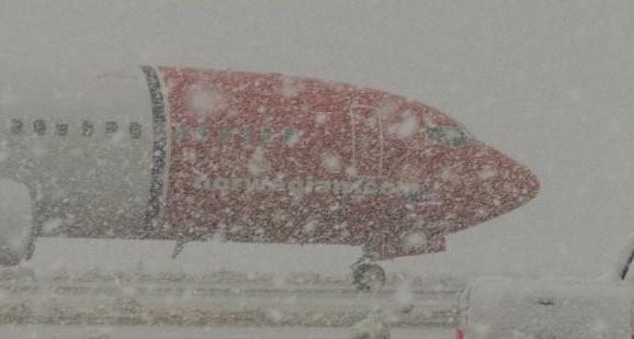 Las low-cost tienen aguante: Impactante foto de un avión de Norwegian en Ushuaia