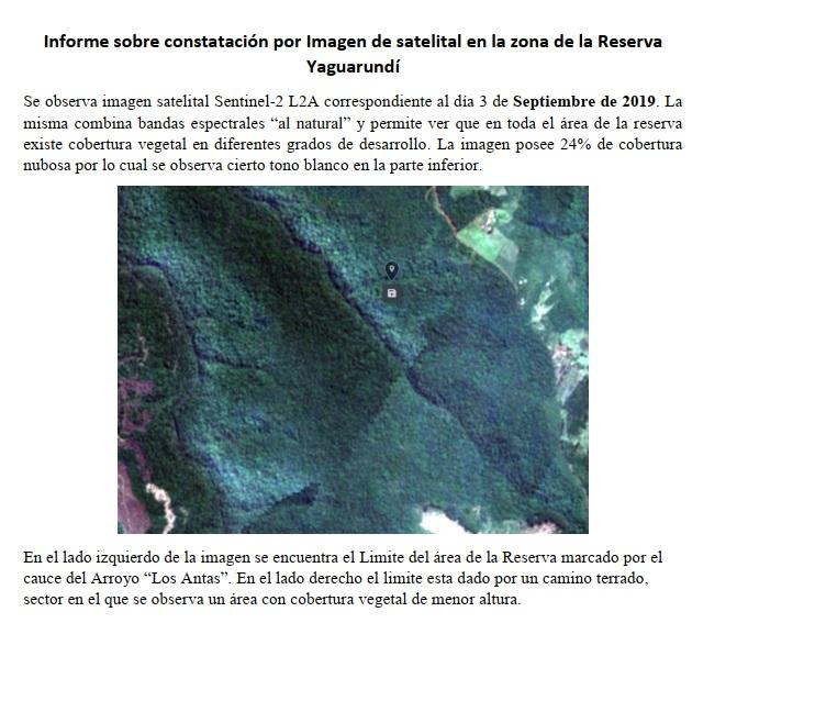 Ecología confirmó el estatus de la reserva privada Yaguaroundí