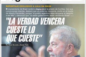 Las tapas del domingo: Entrevista de Página a Lula en la cárcel de Curitiba