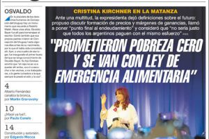 Las tapas del domingo 22: CFK criticó al Gobierno por la deuda y la crisis; ganó Boca