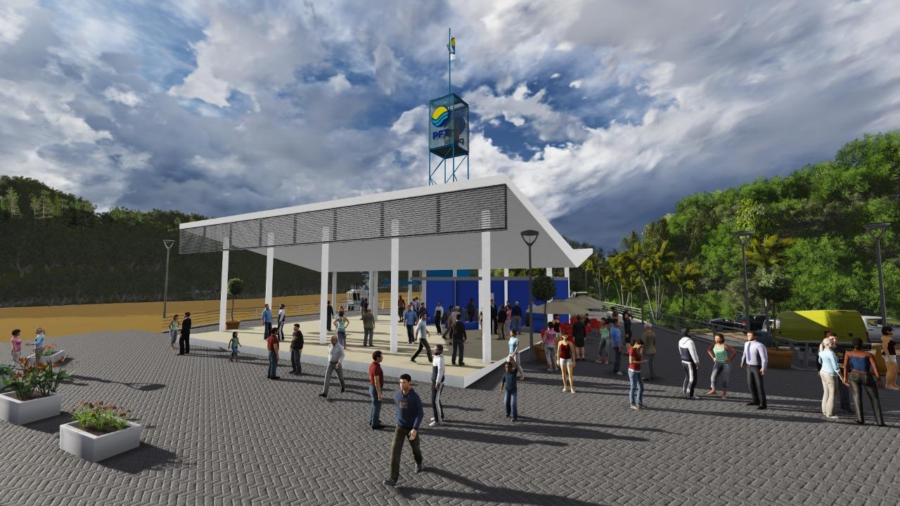 Avanzan las obras de la Terminal Fluvial de Puerto Iguazú