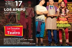 Con Los Apepú y Pedido de mano, la escuela va al teatro en septiembre