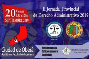 Se realizará la segunda jornada de Derecho Administrativo en Oberá