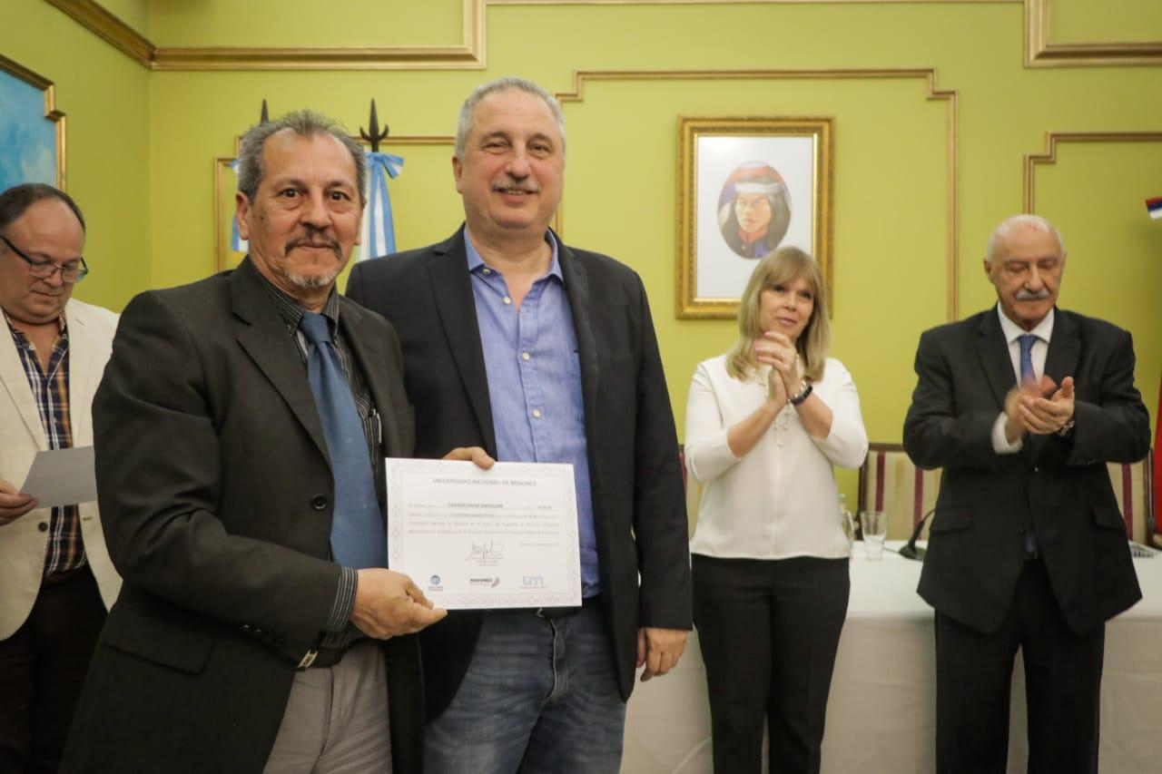 Passalacqua encabezó la entrega de certificados a 80 gestores energéticos, formados a partir del trabajo conjunto entre CFI y la UNaM