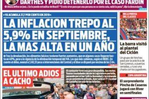 Las tapas del jueves 17: Cómo reflejó cada diario el dato de la inflación de septiembre
