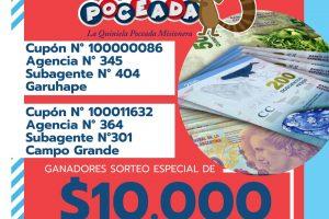 En Garuhapé y Campo Grande, felices con el premio especial de la Poceada