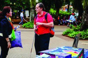 """Lanzamiento del II Concurso Literario para ciegos  en la """"Semana del Bastón Blanco"""""""