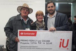 La Universidad Siglo 21 y el Banco Santander eligieron a Comida por un Dólar como emprendimiento argentino 2019