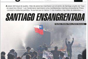 Las tapas del martes 22: Las protestas en Chile y las ventas de los dólares del BCRA
