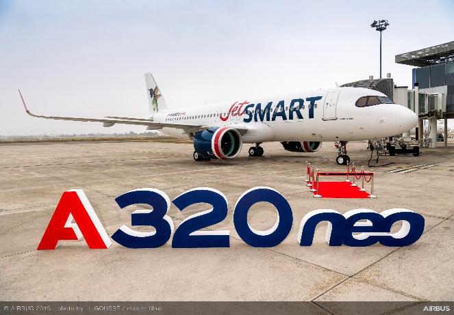JetSMART trae de fábrica su nuevo avión A320neo