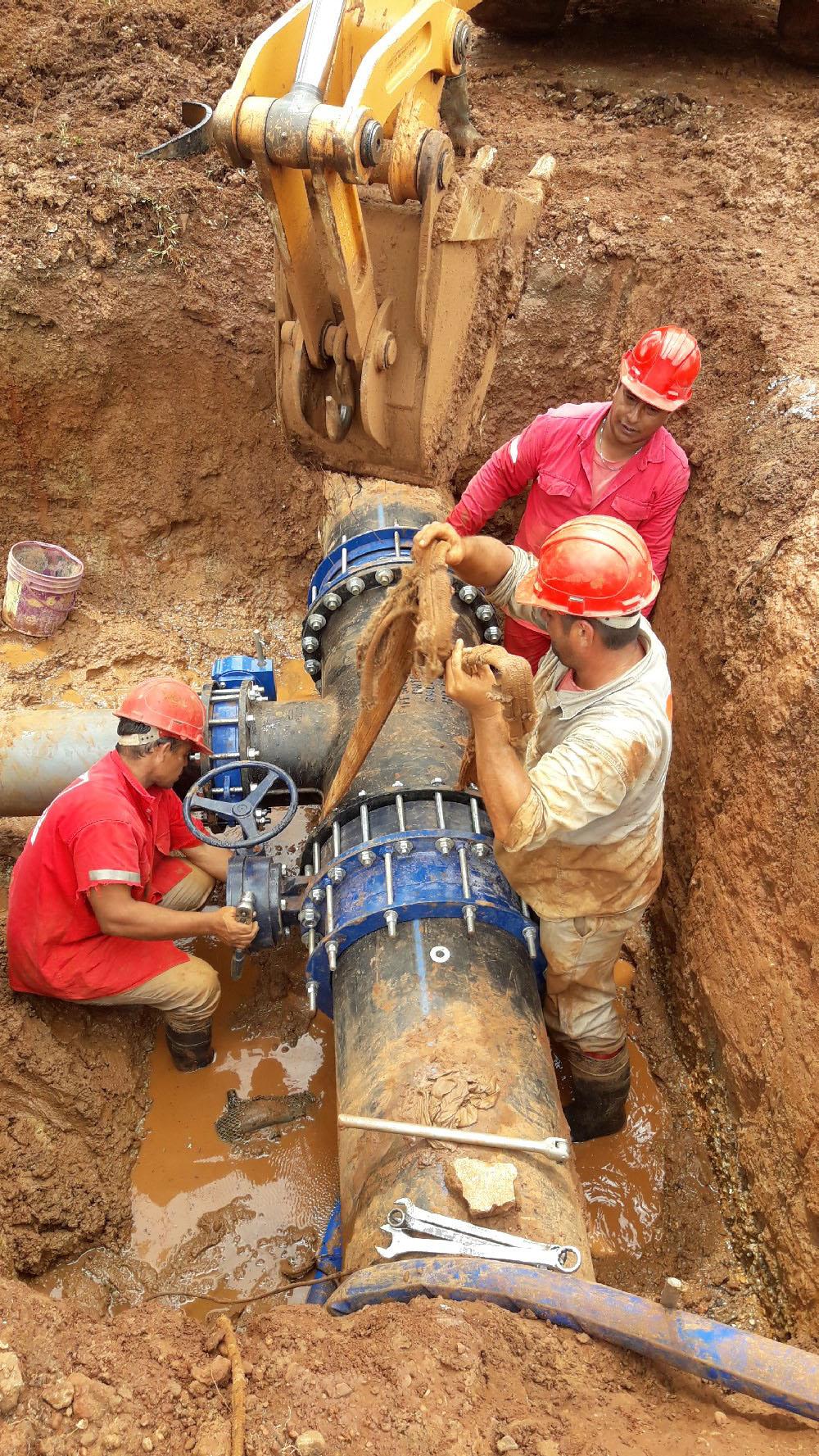Samsa avanza con obras para mejoras en el servicio de agua potable