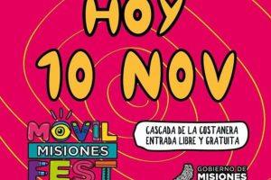 Movilfest 2019: Jimena Barón cantará hoy a las 16 en la cascada de la Costanera