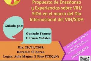 Se realizará un conversatorio sobre enseñanza y experiencias sobre VIH/SIDA