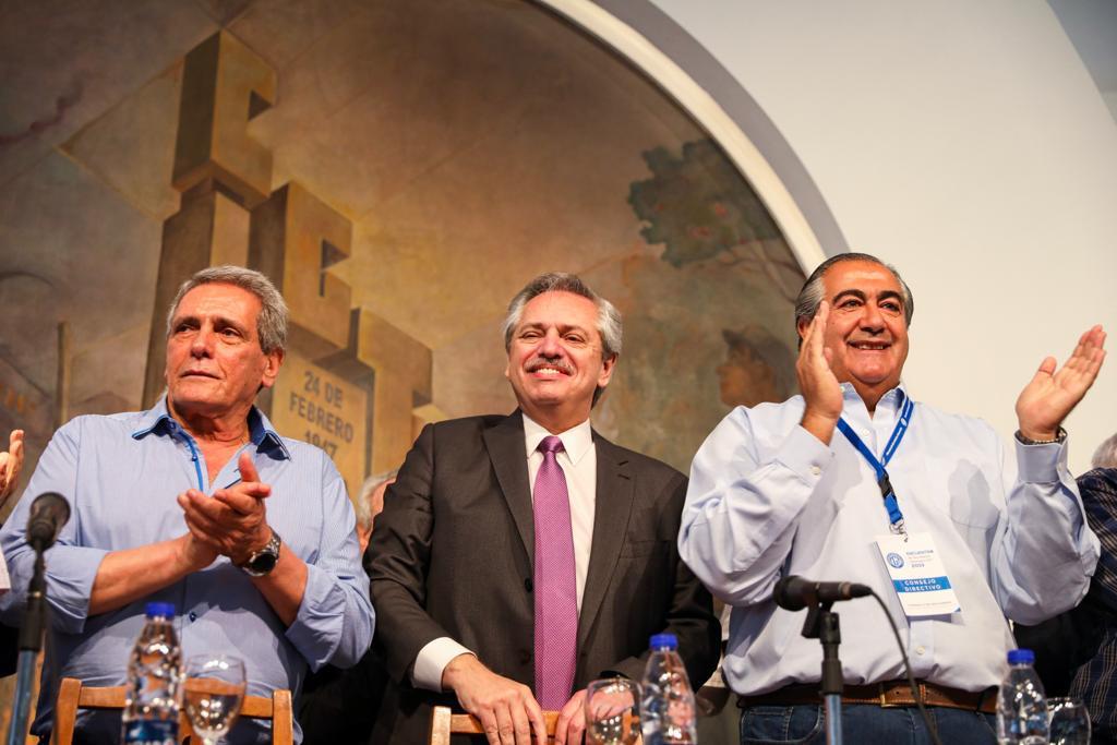"""Alberto Fernández en la CGT: """"En este lugar vamos a hacer la nueva generación de trabajadores que la Argentina necesita"""""""