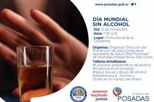Realizan en Posadas una jornada de concientización por el Día Mundial Sin Alcohol