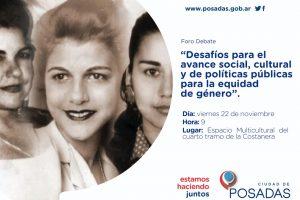 Foro sobre «Desafíos sociales, culturales y de políticas públicas para la equidad de género»