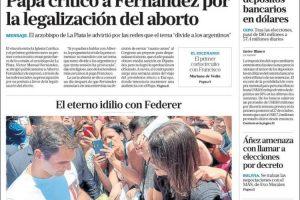 Las tapas del martes 19: El título casi idéntico de Clarín y La Nación
