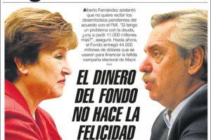 Las tapas del miércoles 27: Fernández no le pedirá al FMI el tramo del crédito pendiente