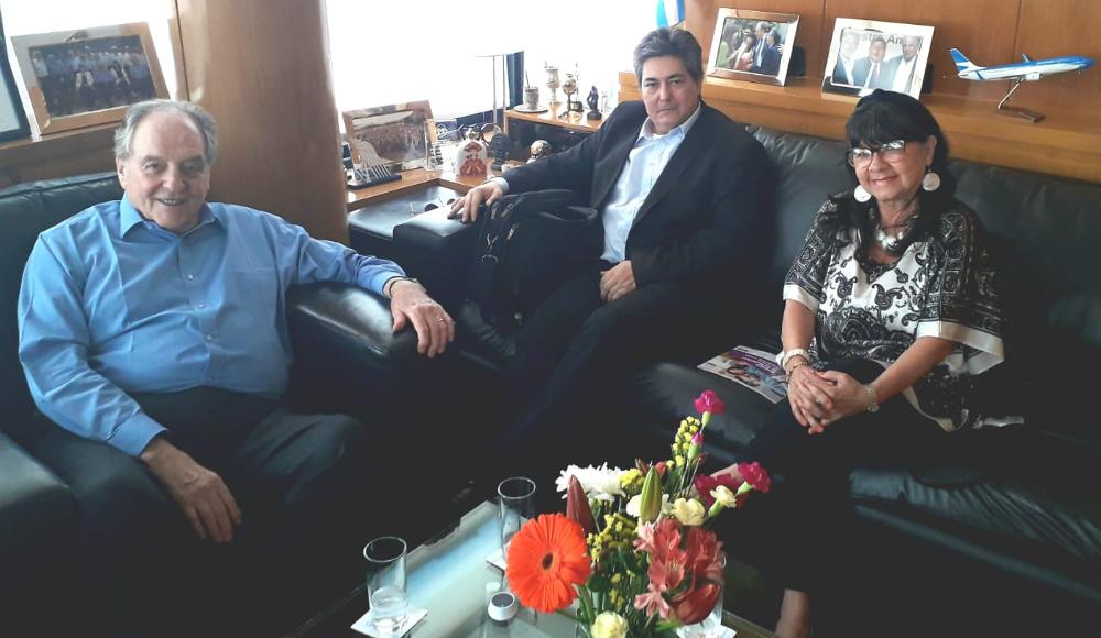 Heller, Perié y Lanziani se reunieron para delinear esquemas de trabajo en el próximo Gobierno