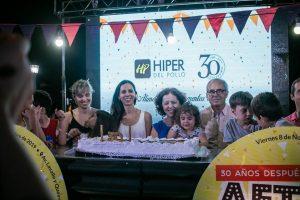Más de 300 personas festejaron con el Hiper del Pollo sus 30 años
