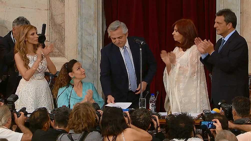 Alberto Fernández, al asumir como presidente: «Los fondos de inteligencia irán al Plan contra el Hambre»