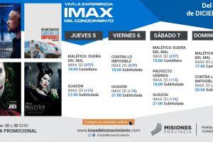 Maratón de éxitos este fin de semana en el IMAX