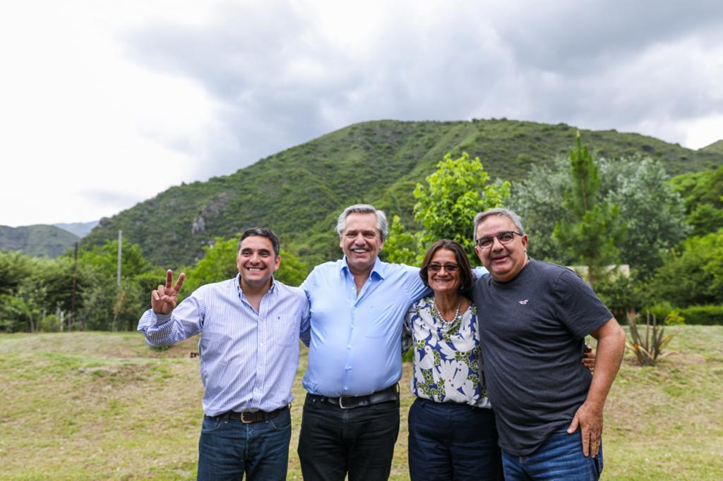 Alberto Fernández visitó Catamarca