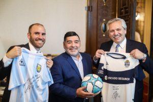 El presidente Alberto Fernández recibió a Diego Maradona