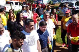 Los ministros de Salud y Turismo participaron en acciones de prevención del dengue