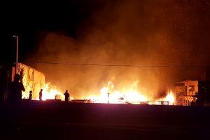 Incendio y destrucción total del aserradero de «Cacho» Barrios Arrechea