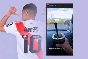 Juanfer Quintero se hizo fanático del mate