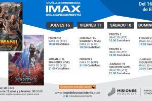Las propuestas del IMAX para toda la familia son Frozen 2 y Jumanji: El siguiente nivel