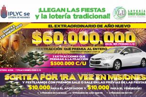 Lotería Unificada sortea este sábado desde la sala del IPLyC