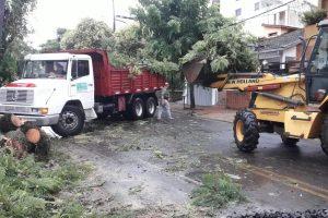 Unas 10 familias fueron asistidas luego del temporal en Posadas