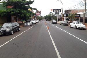 El municipio avanza en la demarcación horizontal de avenidas