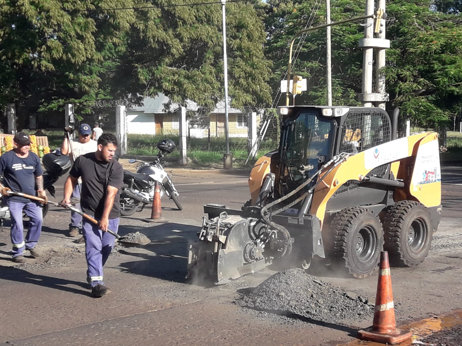 El municipio trabaja en la refacción de calles de la ciudad