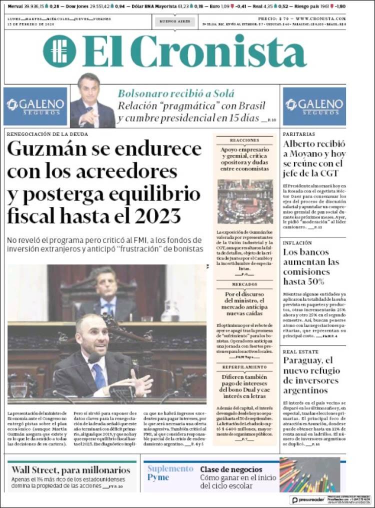 Las tapas del jueves 13: Guzmán responsabilizó al FMI y avisó que el equilibrio fiscal será en 2023