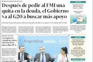 Las tapas del lunes 17: Quita en la deuda con el FMI, sí o no