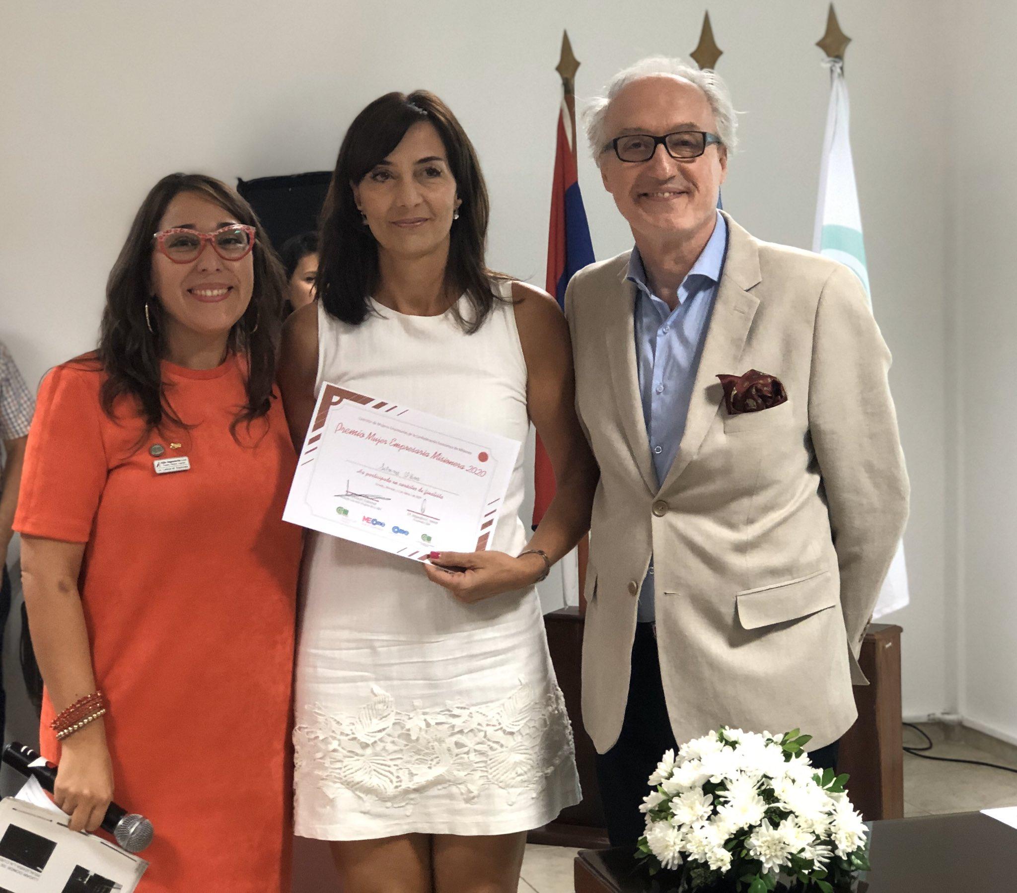 Silvina Oliva del sector forestal, fue reconocida como la Mujer Empresaria 2020
