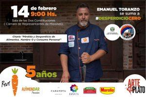 Emanuel Toranzo brindará una charla sobre «Pérdida y desperdicio de alimentos»