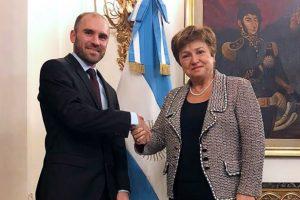 Guzmán ya habló con la titular del FMI y aseguró que hay «entendimiento mutuo»