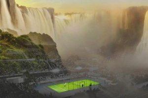 Finalmente, con restricciones, Parques Nacionales autorizó la exhibición de padel en Cataratas del Iguazú