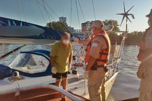 Prefectura detectó un velero y un yate que venían de Brasil